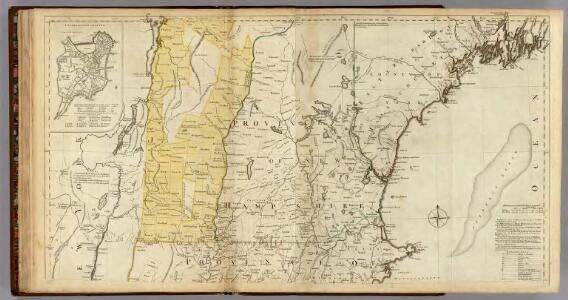 The Provinces of Massachusetts Bay and New Hampshire. (Northern section)