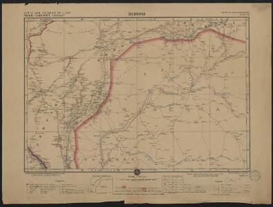 Carte des colonies de l'A.O.F. Dosso