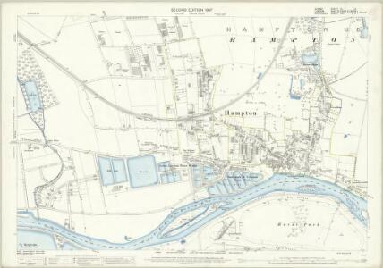 Surrey VI.14 (includes: Sunbury; Twickenham St Mary The Virgin; West Molesey) - 25 Inch Map
