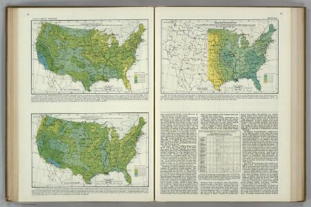 Relative Frequency of Precipitation.  Atlas of American Agriculture.