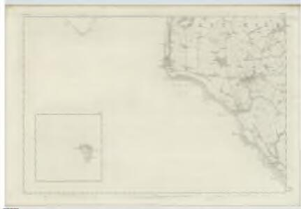 Ayrshire, Sheet X (with inset of sheet XV) - OS 6 Inch map
