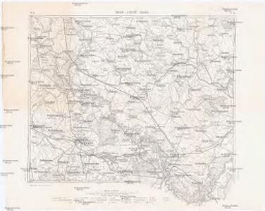 Podrobná mapa Markrabství moravského a Vévodství slezského
