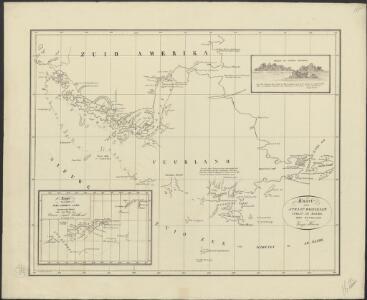 Kaart van Straat Magellaan, Straat Le Maire, het Vuurland en Kaap Hoorn