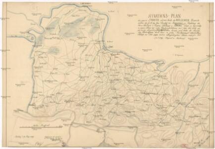 Sitvations-Plan des ganzen Šabacer und eines Theils des Waljewer Districts