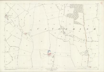Suffolk LXII.16 (includes: Cavendish; Clare; Poslingford) - 25 Inch Map