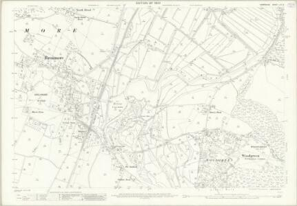 Hampshire and Isle of Wight LIV.12 (includes: Breamore; Fordingbridge; Hale; Woodgreen) - 25 Inch Map