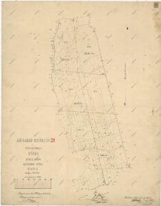 Záměrná mapa polesí Býkov - část Býkov