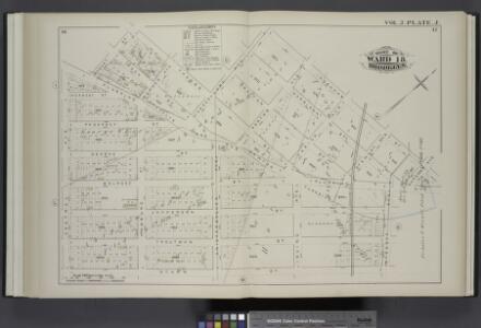 Vol. 2. Plate, J. [Map bound by Bogart St., Thames St., Vandervoort Aver, Ingraham St., Gardner Aver, Flushing Ave., Wyckoff Ave., Starr St., Central Ave.; Including Rock St., Forest St., Prospect St., George St., Melrose St., Jefferson St., Troutman St.