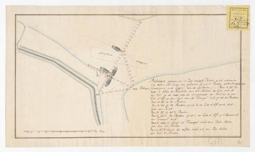 Peilingen gedaan den 25 Julij 1800 door A. Hoek, op het ordinaire hoog water ...