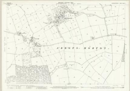 Worcestershire XXXV.7 (includes: Abbots Morton; Inkberrow; Rous Lench) - 25 Inch Map