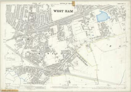 London (Edition of 1894-96) LIV (includes: East Ham; West Ham) - 25 Inch Map