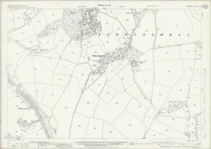 Berkshire VI.14 (includes: Abingdon St Helen Without; Kennington; Radley; Sunningwell; Wootton) - 25 Inch Map
