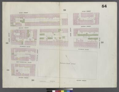 Plate 54: Map bounded by 9th Street, University Place, 4th Street, Sixth Avenue