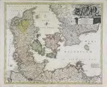 Regni Daniae in quo sunt ducatus Holsatia et Slesvicum insulæ Danicæ provinciæ Iutia Scania Blekingia nova tabula