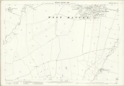 Berkshire XIV.2 (includes: Denchworth; East Hanney; Grove; West Hanney) - 25 Inch Map