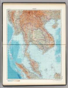 131-132.  Indochina.  The World Atlas.