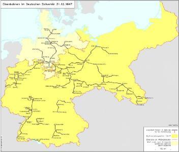 Eisenbahnen im Deutschen Zollverein 31.12.1847