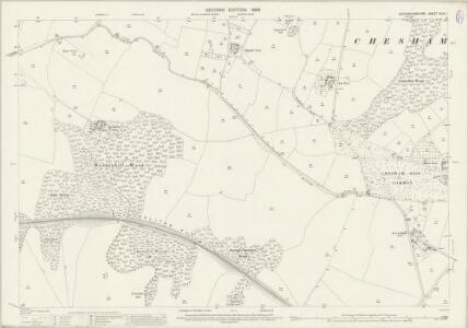 Buckinghamshire XLIII.1 (includes: Amersham; Chartridge; Chesham Bois) - 25 Inch Map
