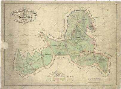 Hospodářská mapa polesí Olšany