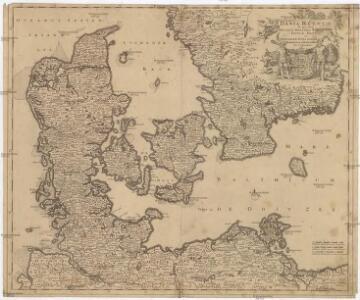 Dania regnum in quo sunt ducatus Holsatia et Slesvicum insulae Danicae et provinciae Iutia Scania Blekingia et Hallandia
