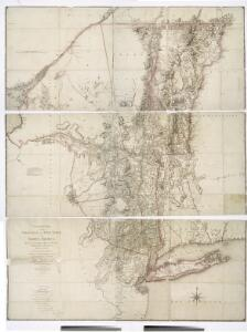 A chorographical map of the province of New-York in North America, divided into counties, manors, patents and townships : exhibiting likewise all the private grants of land made and located in that Province / compiled from actual surveys deposited in the