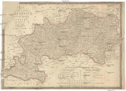 [K]arte des [Erzh]erzogthums [Oes]terreich [ob] und unter der Enns mit Salzburg
