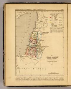 La Terre Sainte partagee en 12 tribus.
