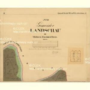 Landschau - m1467-1-002 - Kaiserpflichtexemplar der Landkarten des stabilen Katasters