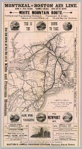 Map Montreal and Boston Air Line.