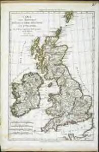 Carte des royaumes d'Angleterre, d'Ecosse et d'Irlande