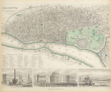Map of Calcutta with pictorial insets