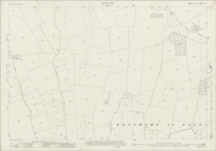 Essex (New Series 1913-) n X.2 (includes: Ashen; Belchamp St Paul; Ovington) - 25 Inch Map