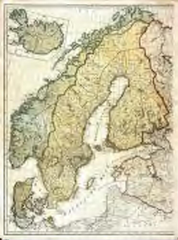 Karte Norwegen Schweden.Zweiter Theil Der Karte Von Europa Welcher Dænemark Und