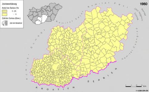 Serben in Süd-Transdanubien und im Komitat Bács-Kiskun 1980
