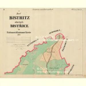 Bistritz - c0723-1-001 - Kaiserpflichtexemplar der Landkarten des stabilen Katasters