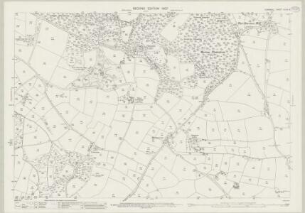 Cornwall XLVIII.15 (includes: Perranzabuloe; St Allen) - 25 Inch Map