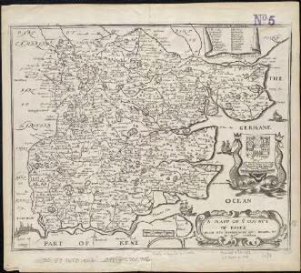 A mapp of ye county of Essex, with its hundreds