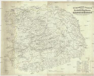 Strassen Karte des Grossfürstenthums Siebenbürgen