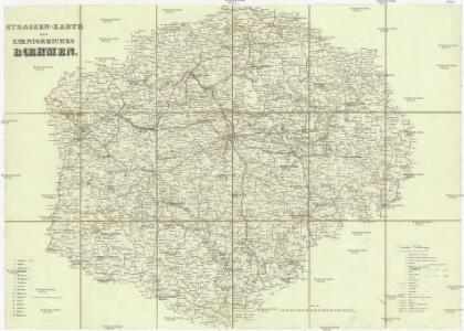 Strassen-Karte des Koenigreiches Boehmen