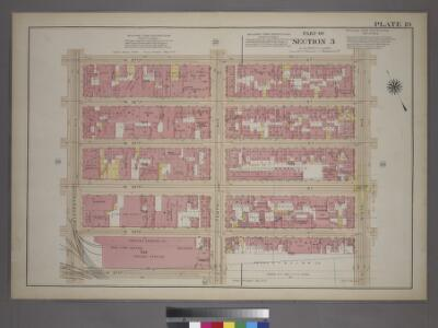 Plate 19, Part of Section 3: [Bounded by W. 37th Street, Ninth Avenue, W. 32nd Street and Eleventh Avenue.]