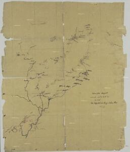 Stationsgebiet Mangamba, entworfen nach der Karte von Dr. Esch - Die Flussgebiete des Mongo u. Unteren Wuri.