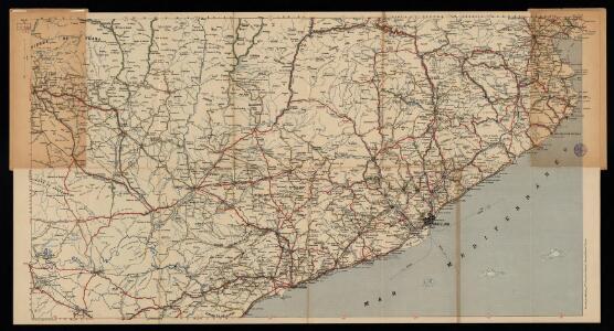 Mapa Michelin España en 13 hojas escala 1/400 000. full: Barcelona No 6