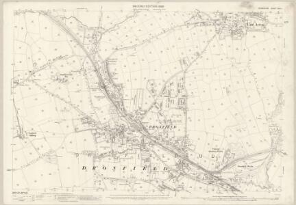 Derbyshire XVIII.1 (includes: Dronfield) - 25 Inch Map