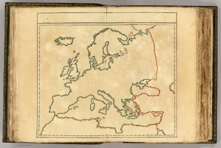 (L'Europe, confins - outline).