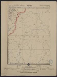 Carte des colonies de l'A.O.F. Nikki
