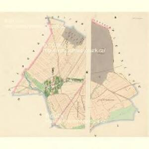 Kutzin (Kuczini) - c3683-1-002 - Kaiserpflichtexemplar der Landkarten des stabilen Katasters