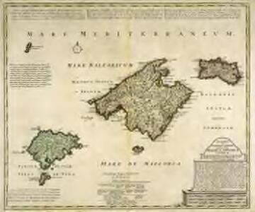 Baleares seu Gymnesiae et Pityvsae insulæ, dictæ Maiorca, Minorca et Yvica