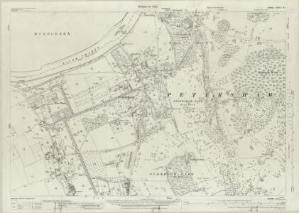 Surrey VI.8 (includes: Ham; Petersham; Twickenham St Mary The Virgin) - 25 Inch Map