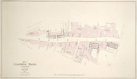 Plan of CORNHILL WARD Surveyed October 1833