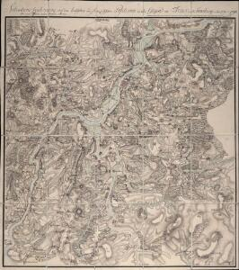 Situations Zeichnung von den teutschen und französischen Positionen in der Gegend um Trier und Saarburg im Jahr 1793 und 1794